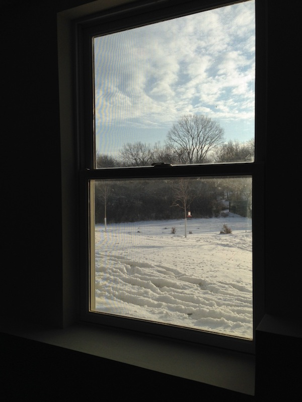 This morning's view from The Midwest X-Rep Training Center.  Brisk, baby!